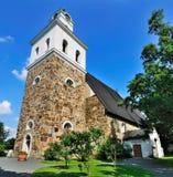 Rauma的中世纪教会,芬兰 免版税库存照片