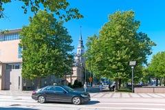Rauma Финляндия Современная часть города Стоковые Фото