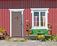 Rauma. Finland. House in Old Rauma Royalty Free Stock Images