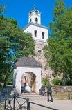 Rauma finland Kyrkan av det heligt korsar fotografering för bildbyråer