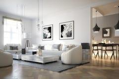Raumadaptation: Wohnzimmer vector illustration