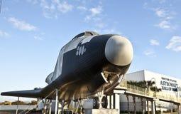 Raumfähre am Astronauten-Hall of Fame lizenzfreie stockfotografie