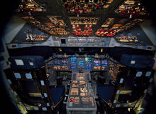 Raumfähre Atlantis Stockfotos
