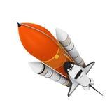 Raumfähre lokalisiert lizenzfreie abbildung