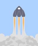 Raumfähre oder Rakete vektor abbildung