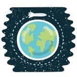 Raumfährebahn um die Erde - vector Illustration Stockfotos