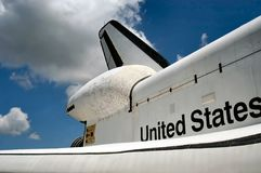 Raumfähredetail stockbilder