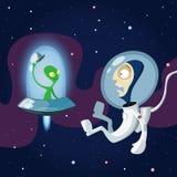 Raumfahrer lizenzfreie abbildung