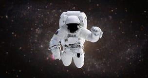 raumfahrer Astronaut im offenen Raum gegen den Hintergrund stockbilder