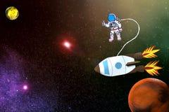 Raumfahrt zum roten Planeten Lizenzfreie Stockbilder