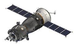 Raumfahrzeug über dem weißen Hintergrund Lizenzfreie Stockfotografie