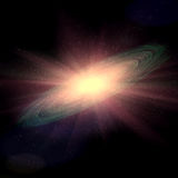 Raumgalaxie-Explosionssupernova Lizenzfreie Stockfotografie