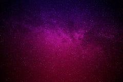 Raumgalaxien auf Hintergrund des nächtlichen Himmels Stockfotografie