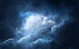 Raumhintergrund mit Nebelfleck und Sternen Lizenzfreies Stockbild