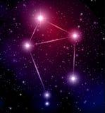 Raumhintergrund mit Sternen und Waagekonstellation Stockfotografie