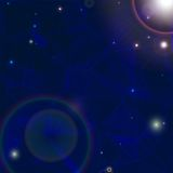 Raumhintergrund withbright Sterne im Kosmos Lizenzfreie Abbildung