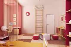 Rauminnenraum der Kinder Stockbilder
