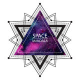Raummandalaillustration oder kosmischer Hintergrund Stockbild