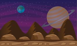 Raumplanetenhintergrund Stockfoto