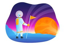Raumreise concept2 lizenzfreie abbildung