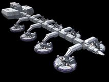 Raumschiff Stockbild