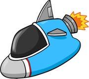 Raumschiff-Abbildung stock abbildung