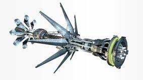 Raumschiff mit Verzerrungs-Antrieb stock abbildung