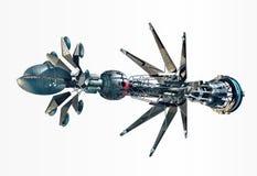 Raumschiff mit Verzerrungs-Antrieb vektor abbildung