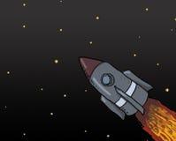 Raumschiff-Produkteinführung stock abbildung