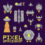 Raumschiffvektorsatz Lizenzfreie Stockbilder