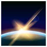 Raumsonnenaufgang lizenzfreie abbildung
