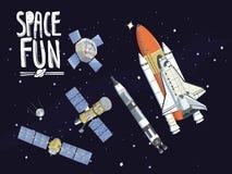 Raumspaß, astrounauts lizenzfreie abbildung