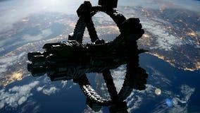 Raumstation, die Earth stock abbildung