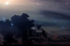 Raumstern-Nebelfleckzusammenfassung Stockfoto