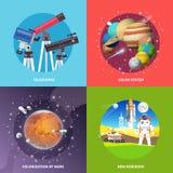 Raumvektor-Quadratfahnen Stockfotografie