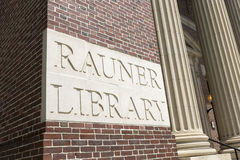 Rauner Library Dartmouth College. HANOVER, NEW HAMPSHIRE JUNE, 25th: Dartmouth College Rauner Library, Hanover, New Hampshire on June 25th, 2015 Stock Image