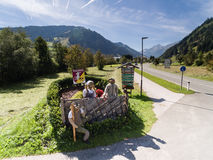 Rauris in Austria, mountain village in the Alps, Salzburg Royalty Free Stock Images