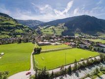 Rauris in Austria, mountain village in the Alps, Salzburg Stock Image