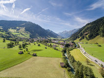 Rauris in Austria, mountain village in the Alps, Salzburg. Summer Royalty Free Stock Image
