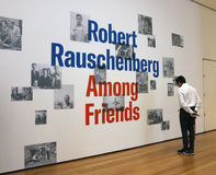 Rauschenberg At The Moma Royalty Free Stock Image