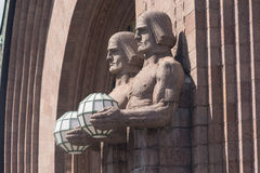 Rautatientori赫尔辛基建筑学细节 图库摄影