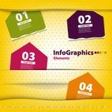Raute des farbigen Papiers vier mit Platz für Ihren Text Lizenzfreie Stockfotografie