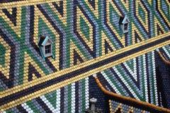 Raute und Dreieck kopieren bunte Fliesen Stephansdom Wien lizenzfreies stockfoto
