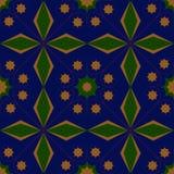 Rauten-Grünabstraktion des Musters grafische blaue gelbe vektor abbildung