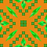 Rauten-Grünquadrat der Mustervektorabstraktion orange Lizenzfreies Stockfoto