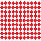 Rautenförmiges ledernes Beschaffenheitsmuster auf weißem rotem Hintergrund Stockfotos