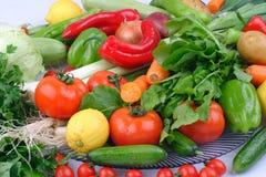 Rauwe groenten en vruchten achtergrond Gezond natuurvoedingconcept stock foto
