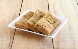 Free Rava Burfi Indian Sweet Made From Semolina The Main Ingredient Royalty Free Stock Image - 216666996