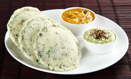 Rava idli with sagu Stock Images