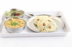 Rava Idli South Indian Vegetarian Food Royalty Free Stock Images